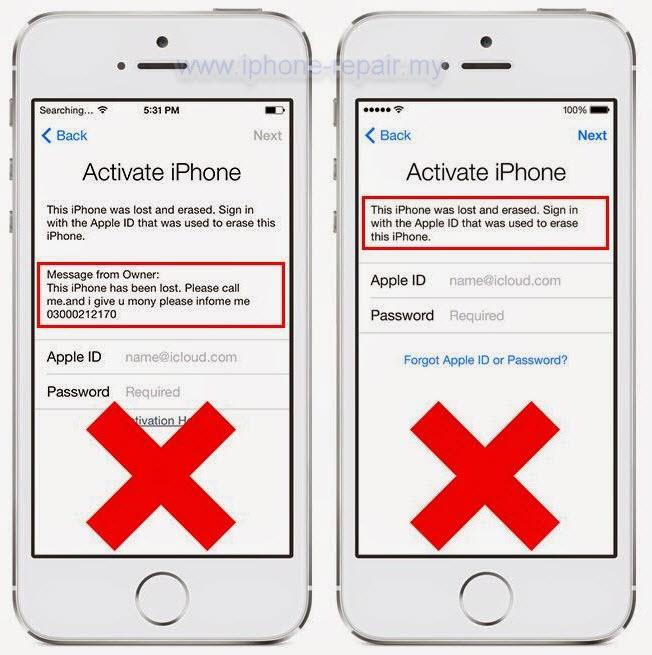 iPhone blacklisted icloud lock