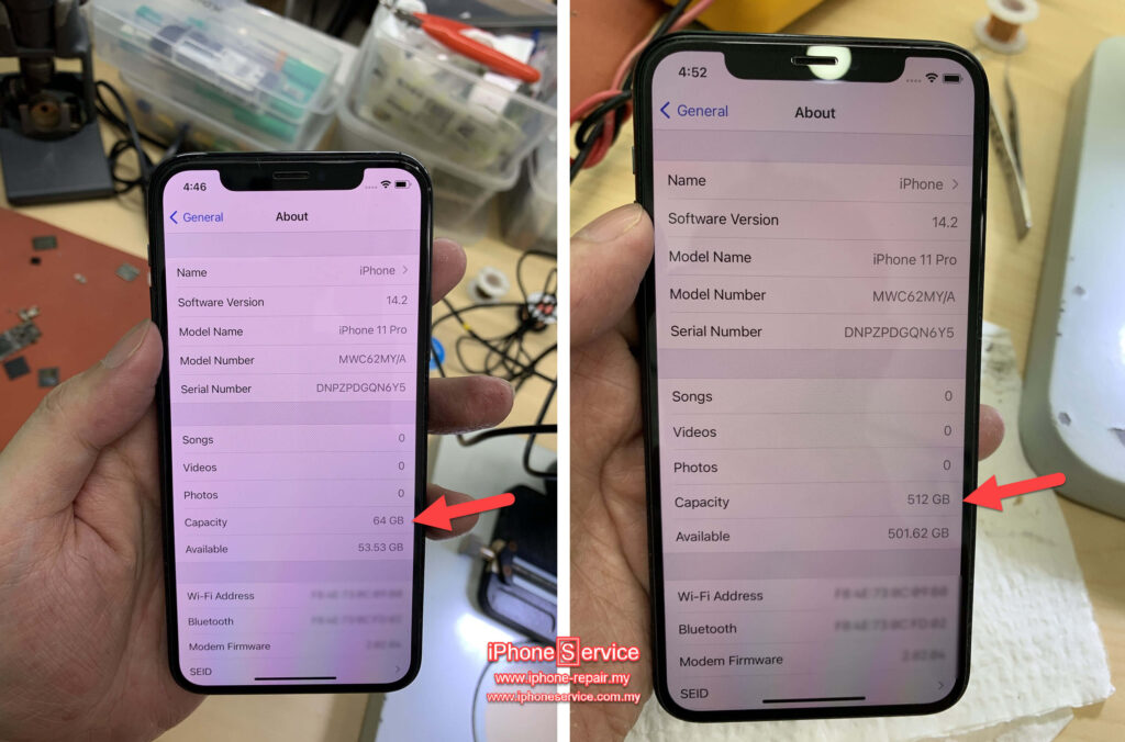 iPhone 11 Pro Storage upgrade
