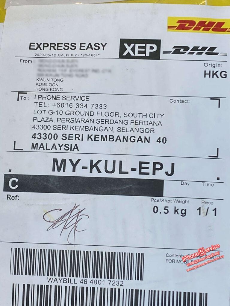 Hong Kong mail iPhone Repair Parcel
