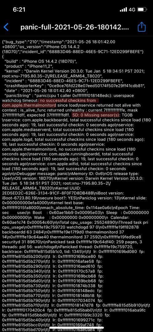 Panic-full Missing sensor