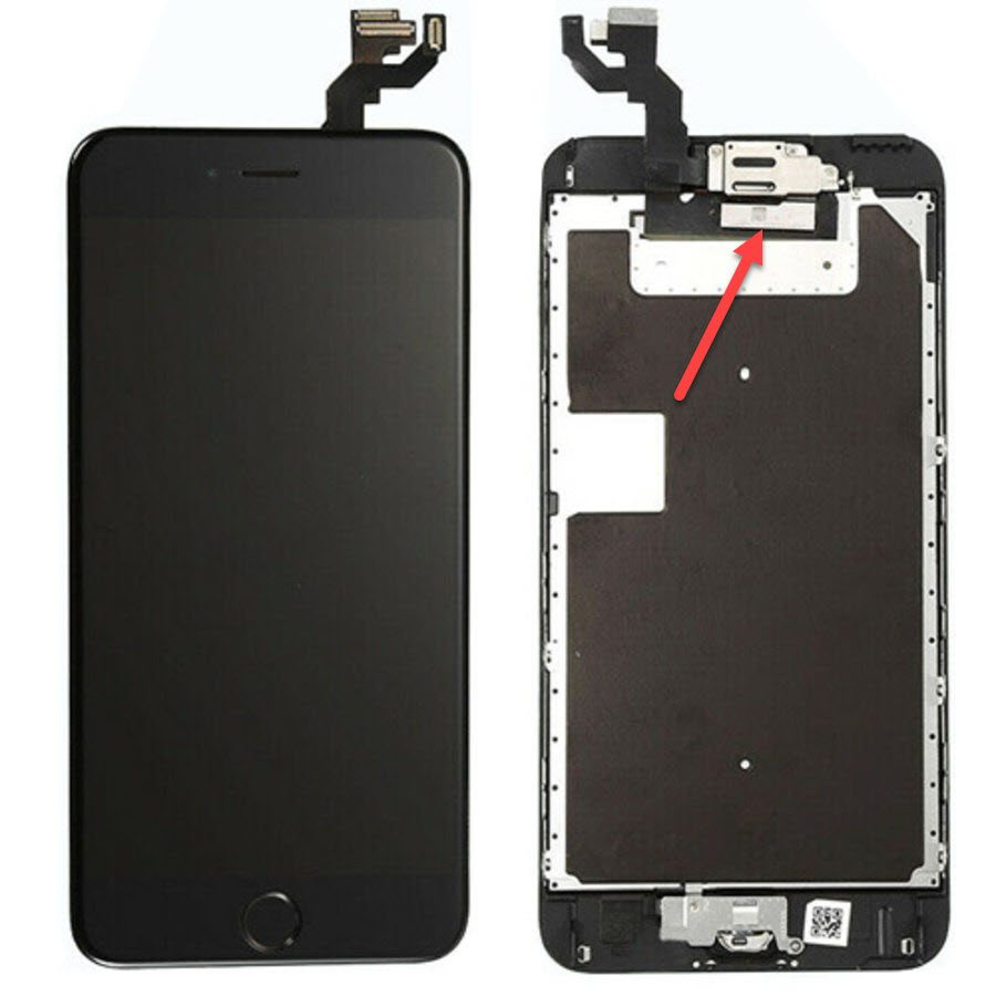 iPhone 6S LCD, see the big  rectangle big chip?